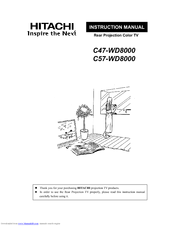Hitachi C57WD8000 Manuals