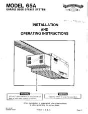 Overhead Door 65A Manuals