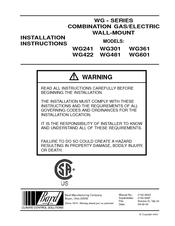 Bard WG301 Manuals
