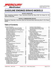 Mercury BRAVO Manuals
