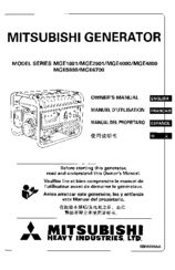 Mitsubishi Heavy Industries MGE6700 Manuals