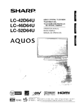 Sharp AQUOS LC46D64U Manuals