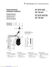 Hirschmann HIT AUTA 2040 Manuals