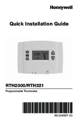 Honeywell RTH221 Series Manuals