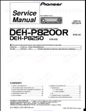 Pioneer DEHP8200R Manuals