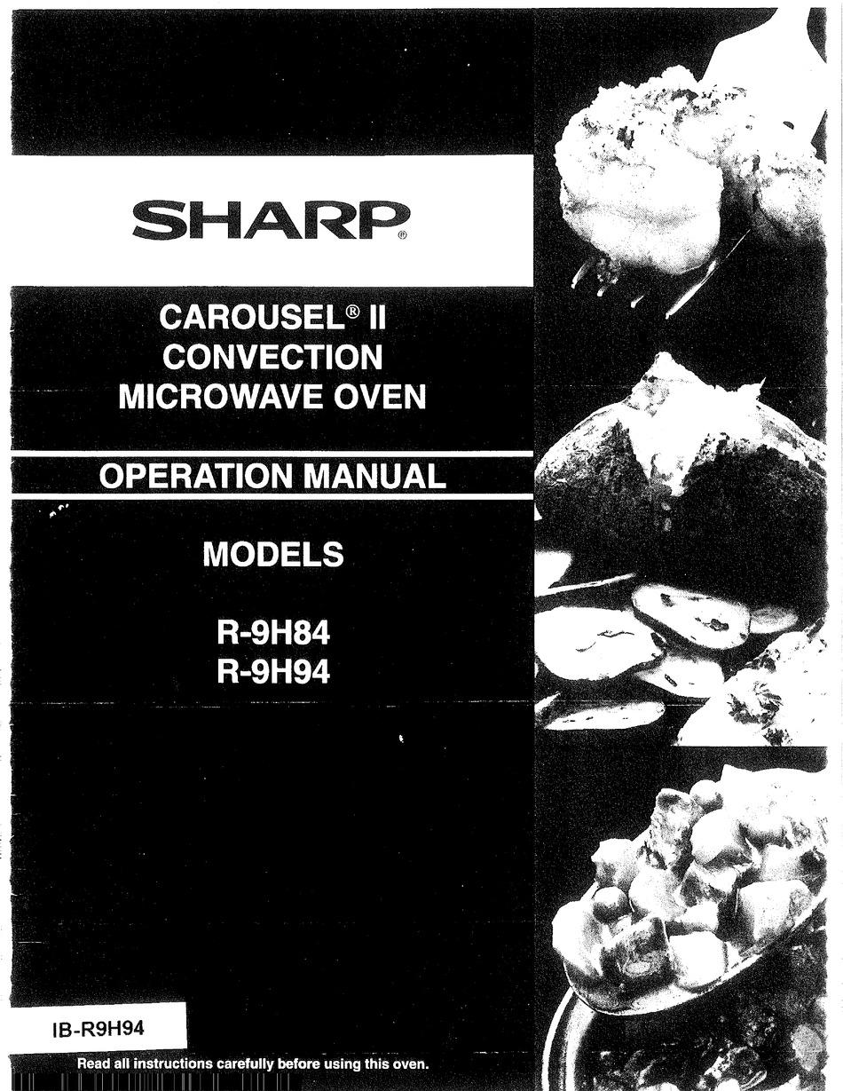 sharp carousel ii r 9h94 operation