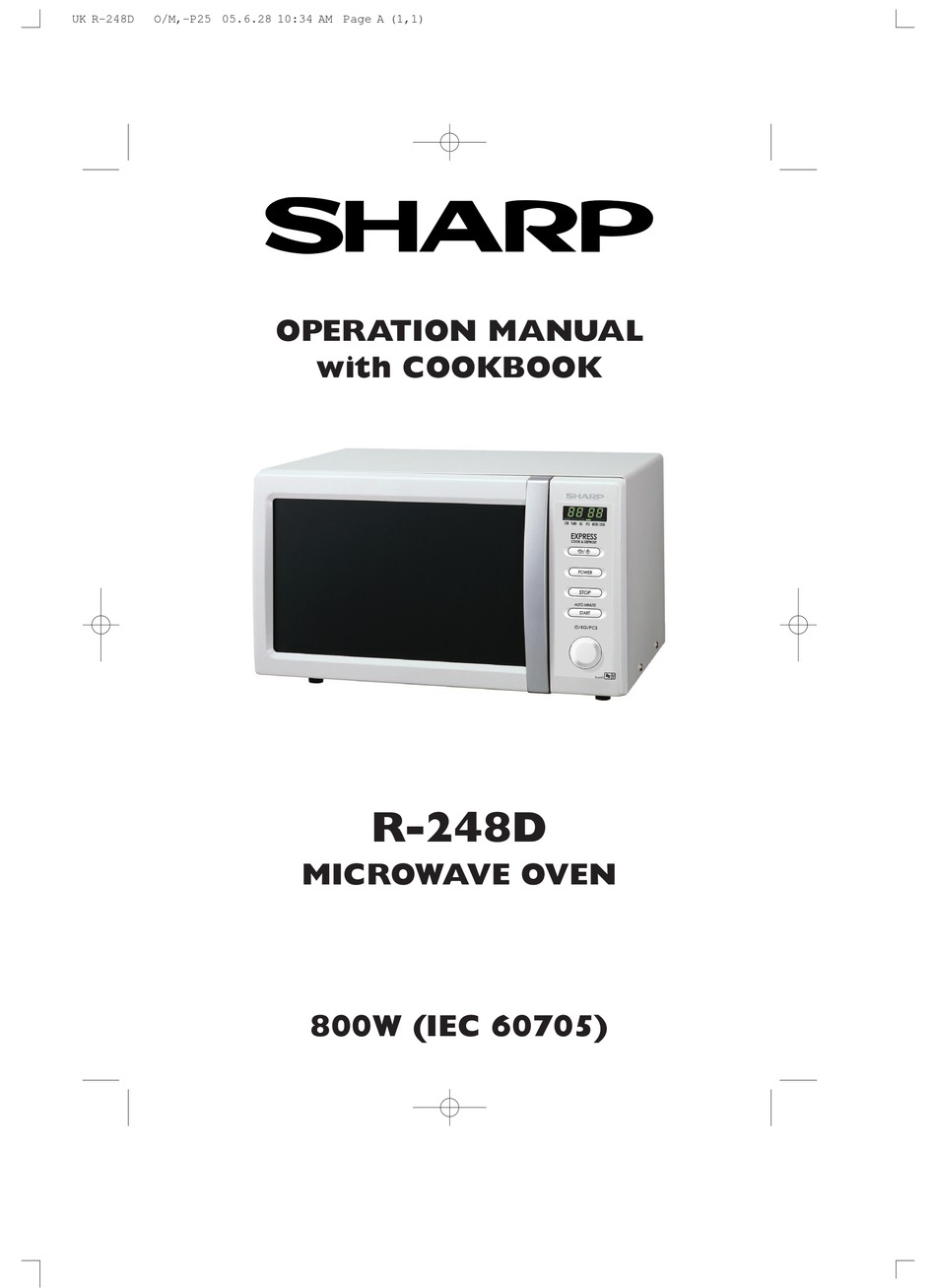 sharp r 248d operation manual with