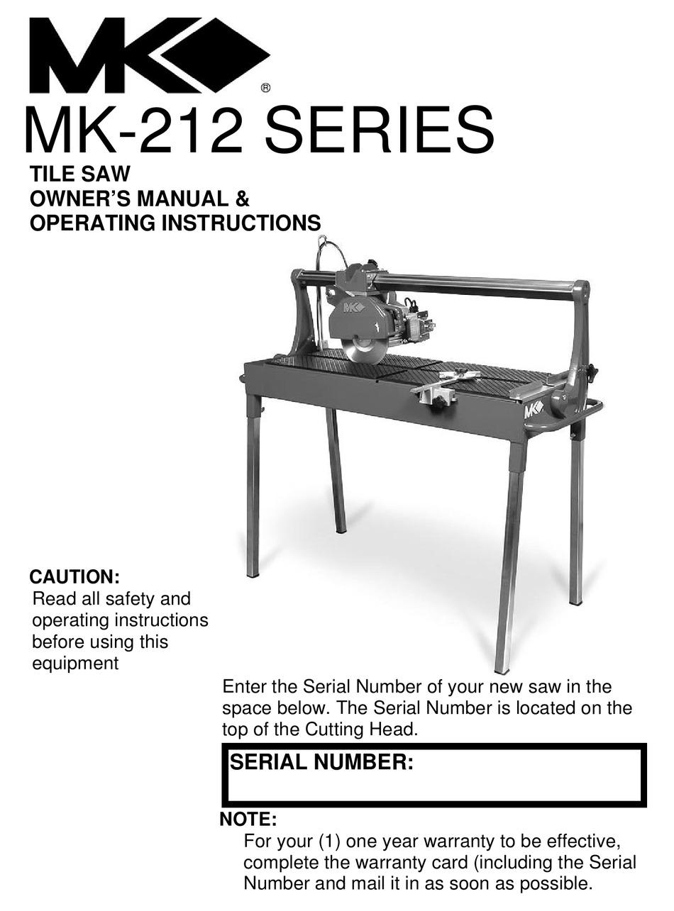 mk diamond products mk 212 series owner
