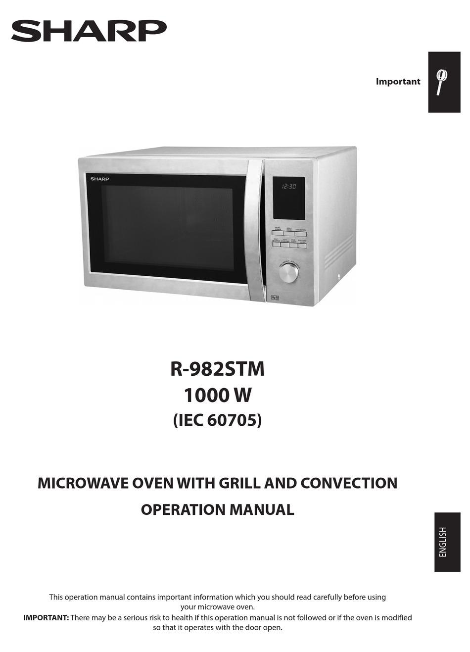 sharp r 982stm operation manual pdf