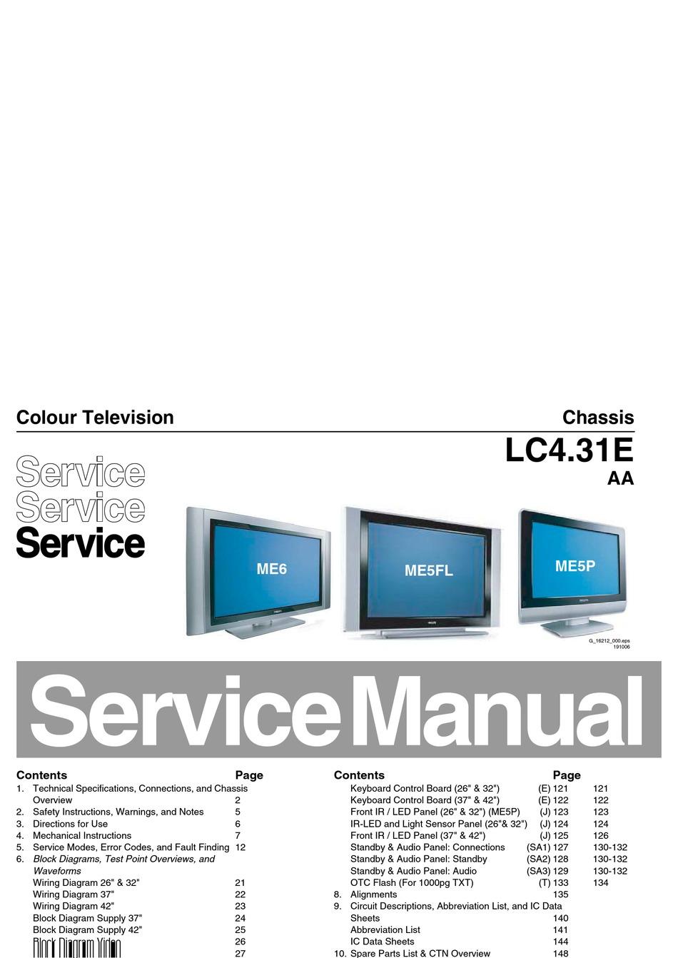 philips lc4 31e service manual pdf