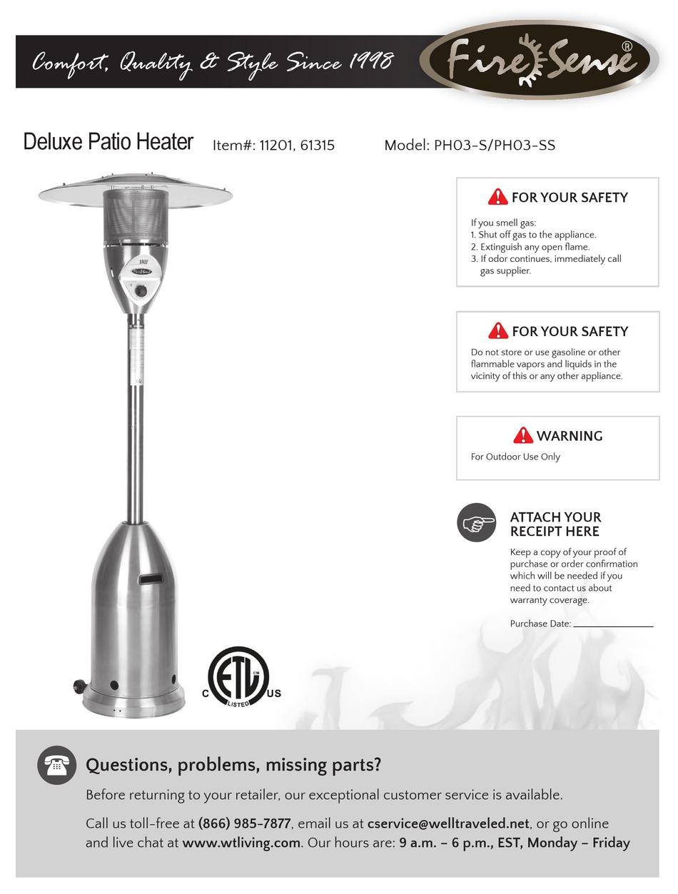 fire sense ph03 s manual pdf download