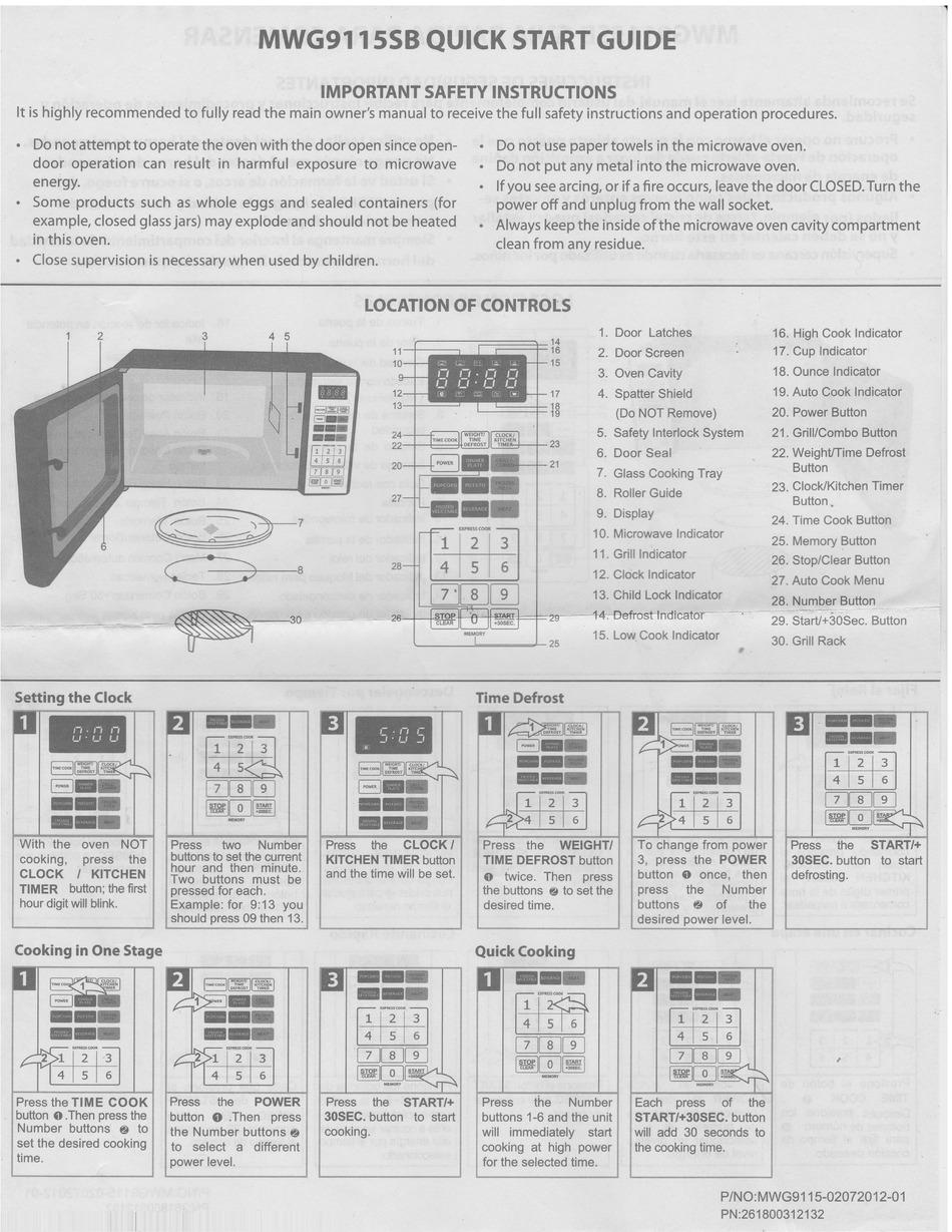 emerson mwg9115sb quick start quide pdf