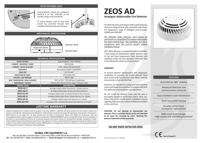 global fire zeosads instructions pdf download  manualslib