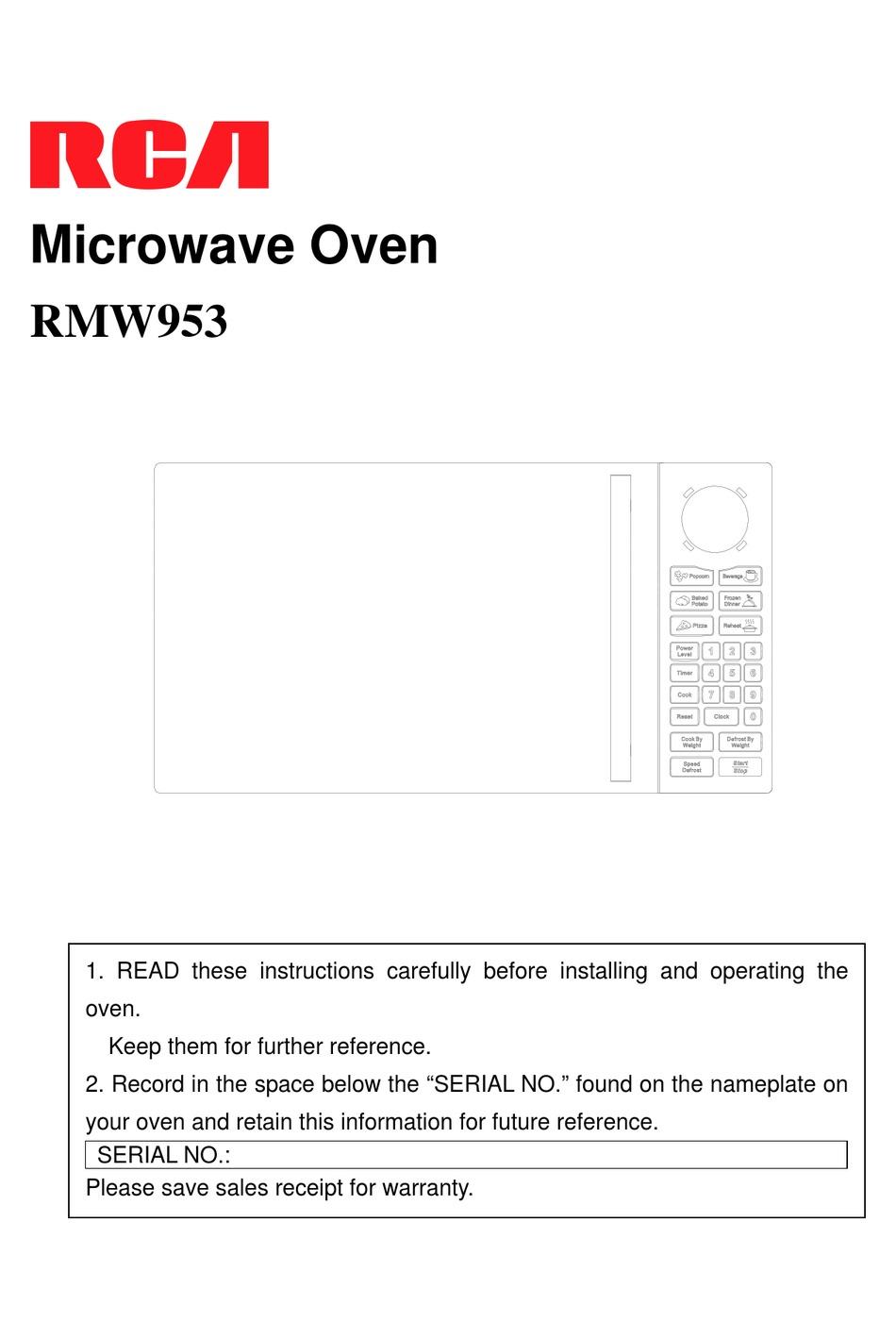 rca rmw953 user manual pdf download