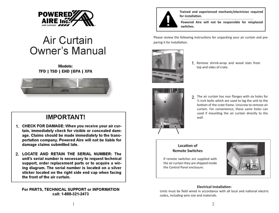 powered aire tfd owner s manual pdf