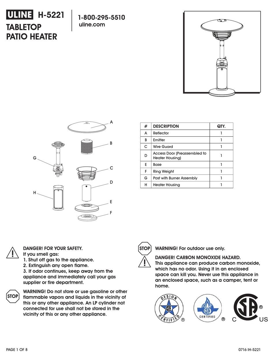 u line h 5221 manual pdf download