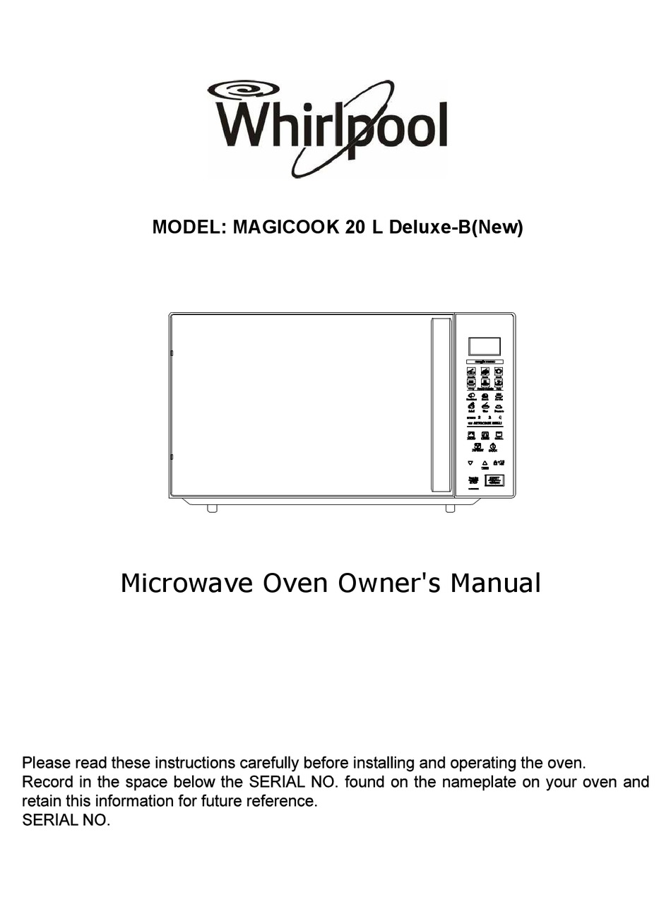 whirlpool magicook 20 l deluxe b owner