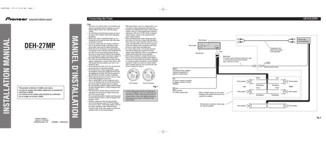 pioneer deh27mp installation manual pdf download  manualslib