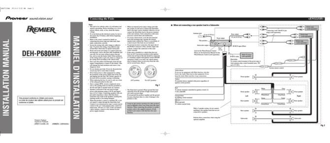 pioneer dehp680mp installation manual pdf download  manualslib