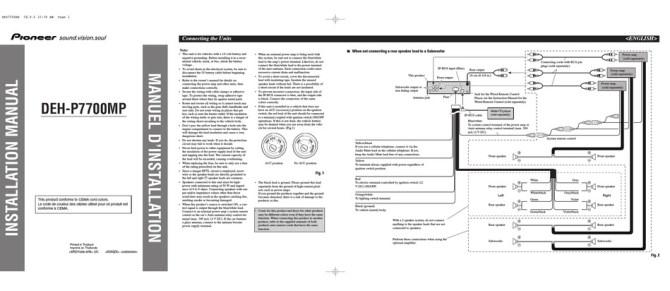 pioneer dehp7700mp installation manual pdf download