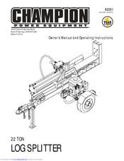 Champion 22 Ton Log Splitter Owner S