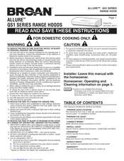 Broan Qs130ss Manuals Manualslib