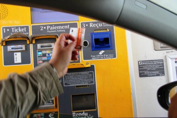 Франция. Оплата за проезд на платной дороге