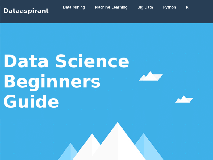 data science beginners guide