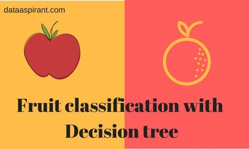 fruit classification with decision tree