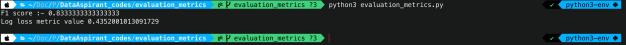 log loss output
