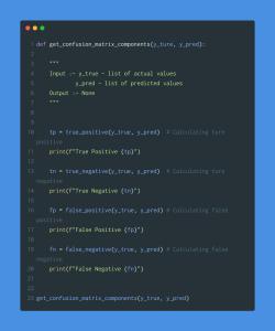 calculate confusion matrix components