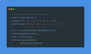Confusion matrix tensor flow