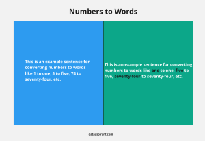 Converting Numbers to Words