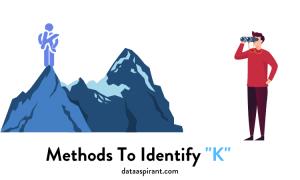 Methods to Identify K in K-means clustering