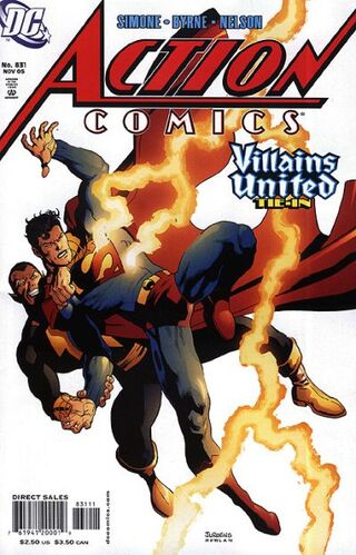 In 'Action Comics #831' (2005), Superman confronts Black Adam over his protection of the villain Doctor Psycho.
