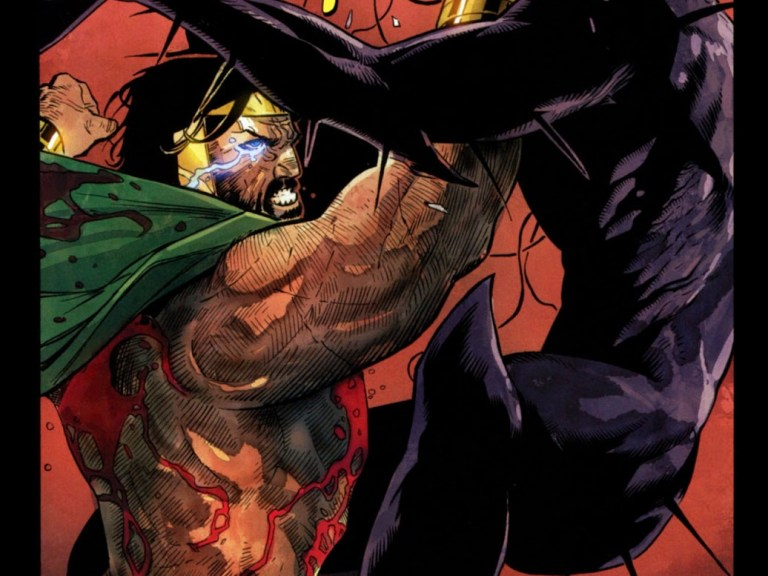 In 'Chaos War#5' (2010), Chaos War Hercules punches Mikaboshi, the Chaos King and wins the battle!