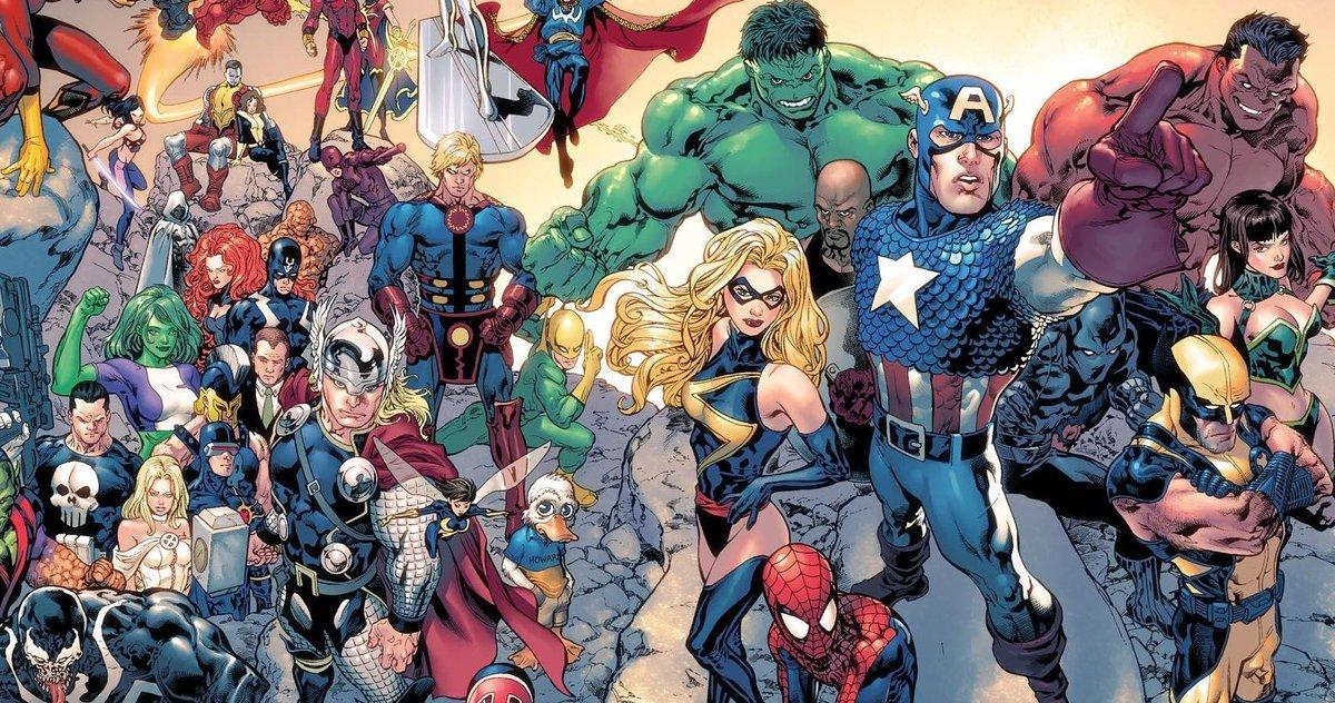 Captain America leads as the Marvel Universe assembles.