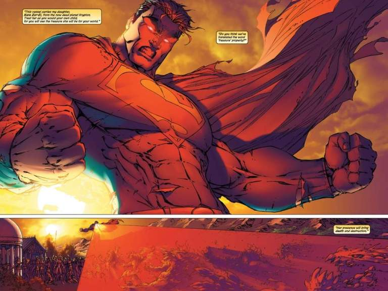 """In 'Superman/Batman #10' (2004), Superman vaporizes an army of Dr. Bedlam's Doomsday """"animates"""" with a wide intensity blast of heat vision on Themyscira."""