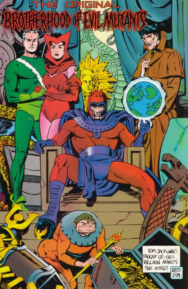 In 'X-Men Unlimited' (1994) #7, Magneto appears with the Brotherhood of Evil Mutants.