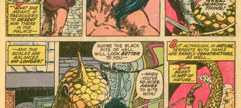 Marvel Day: Conan and Red Sonja Fencing, Swash-Buckling, Retrieve The Serpent Tiara