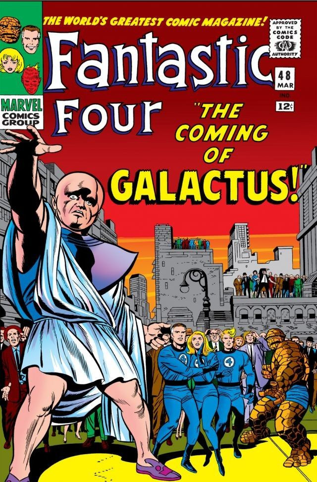 'Galactus Trilogy' (1966) marks the first appearance of Galactus and the Silver Surfer in Marvel continuity as Silver Surfer arrives on Earth to summon Galactus.