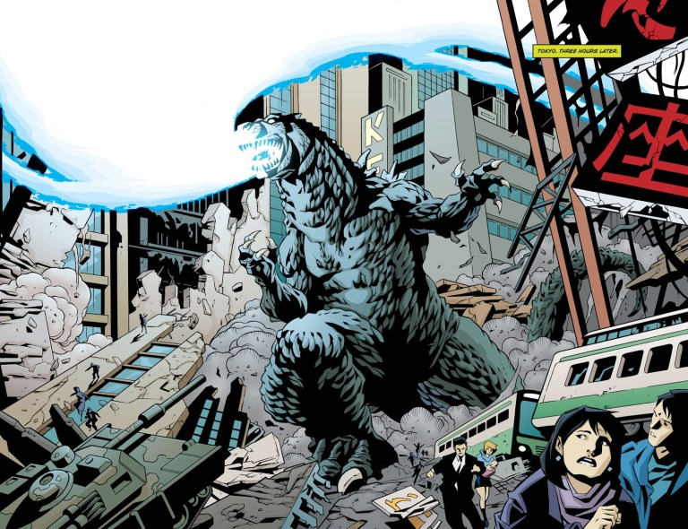 In 'Godzilla: Kingdom Of Monsters' (2011) #1, Godzilla destroys Tokyo with atomic breath.