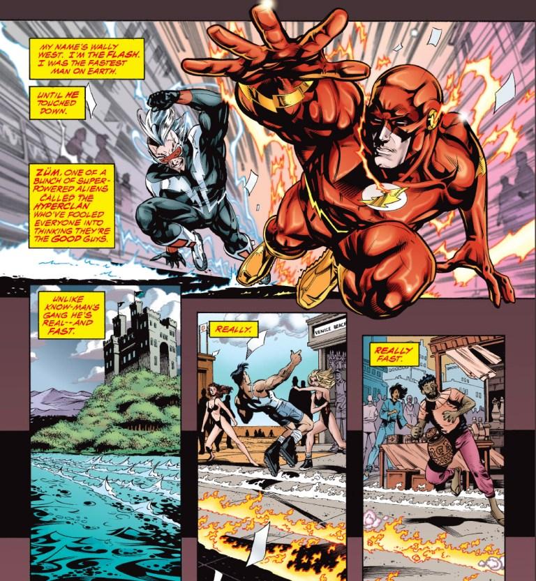 In 'JLA' (1997) #3, Zum races the Flash.