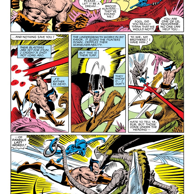 In 'Uncanny X-Men' (1963) #162, Wolverine fights the Brood for his survival.