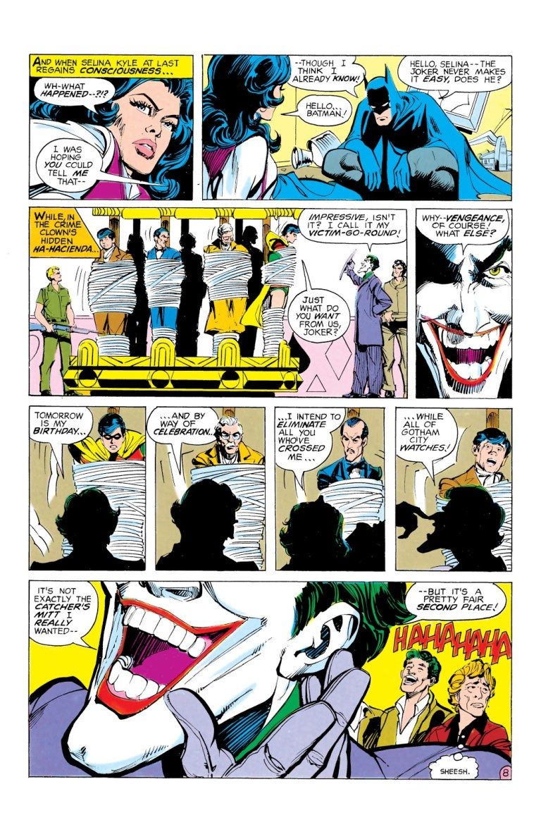 """In 'Batman' (1980) #321, Joker sets up his """"victim-go-round"""" to kill all his sworn enemies """"while all Gotham City watches"""" as celebration for his birthday."""