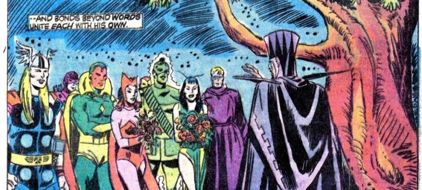 Marvel Day: In The Dark Dimension, Vision Confesses His Love, Saves Then Marries The Scarlet Witch