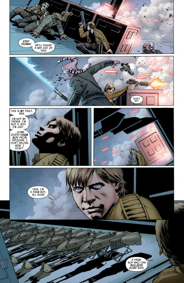 In 'Star Wars' (2015) #2, Luke Skywalker for the mission going south on Cymoon 1.