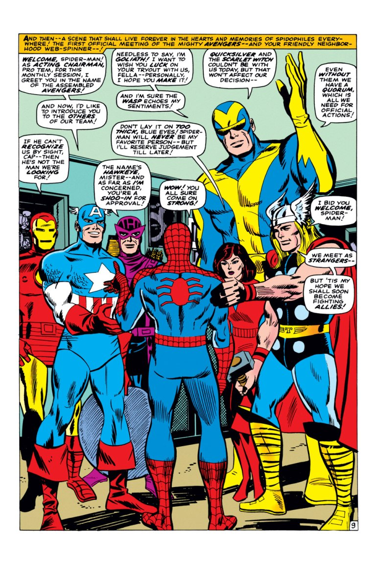 In 'Amazing Spider-Man Annual' (1966), the Avengers attempt to recruit Spider-Man.