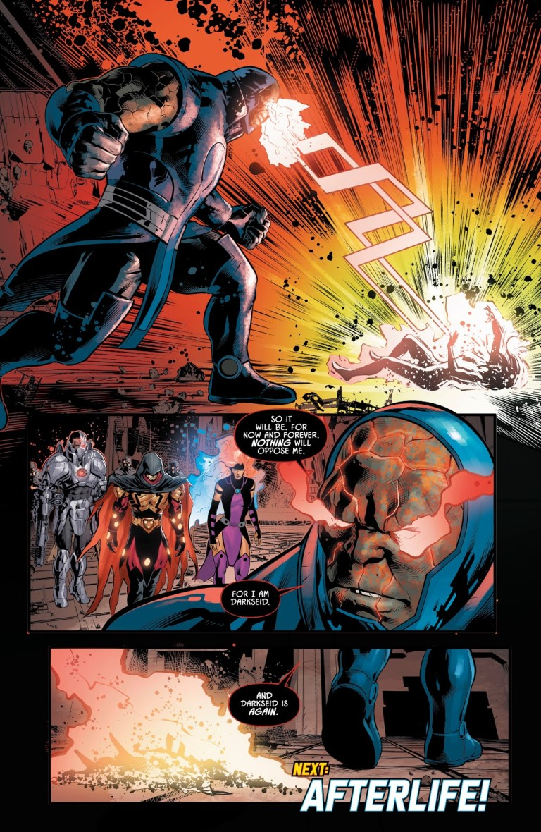 In 'Justice League: Odyssey' (2019) #12, Darkseid disintegrates Jessica Cruz with his Omega Effect.