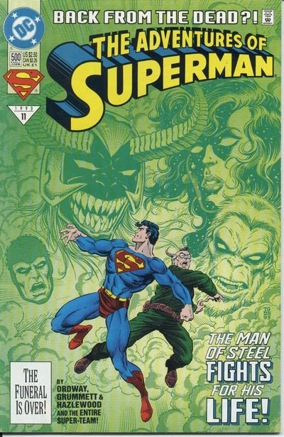 In 'Adventures Of Superman' (1993) #500, we are introduced to Superboy's origin story.
